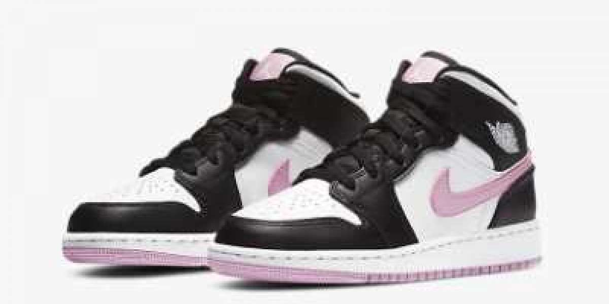 Where To Buy Air Jordan 1 Mid GS White Light Arctic Pink Sneakers 555112-103 ?