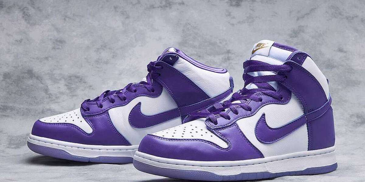 "DC5382-100 Nike Dunk High ""Varsity Purple"" Varsity Purple/White Released On December 3"