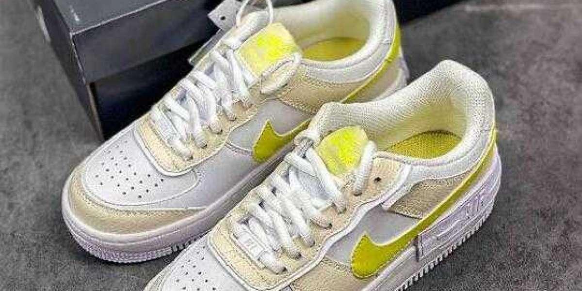 DJ5197-100 Nike Air Force 1 Pixel Beige White Yellow Pendant Hiking Shoes